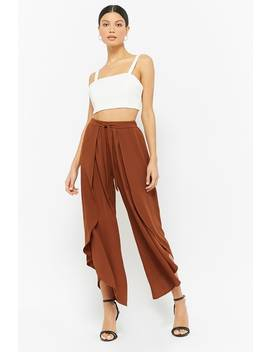 Tulip Hem Flare Pants by F21 Contemporary