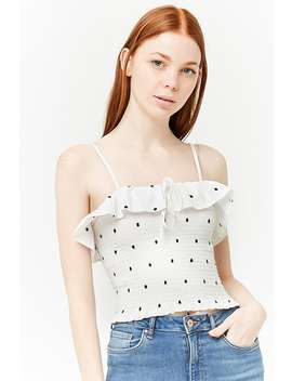 Smocked Polka Dot Cami by Forever 21