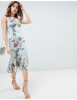 Hope & Ivy All Over Printed Peplum Hem Dress by Asos Brand