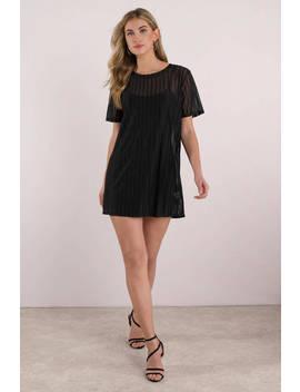Call Me Baby Black Mesh Shift Dress by Tobi