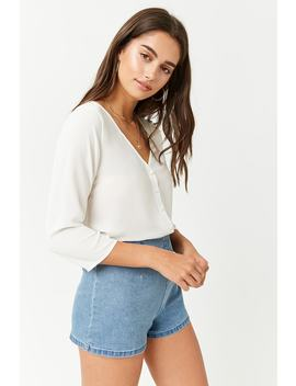 Chiffon Button Front Top by F21 Contemporary