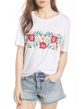 Floral Embroidered Tee by Bp.