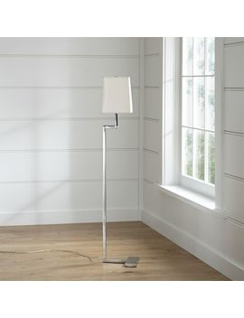 Clare Antiqued Silver Floor Lamp by Crate&Barrel