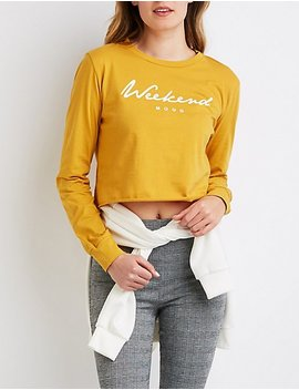 Weekend Mood Crop Top by Charlotte Russe