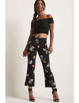 Floral Cropped Pants by Forever 21