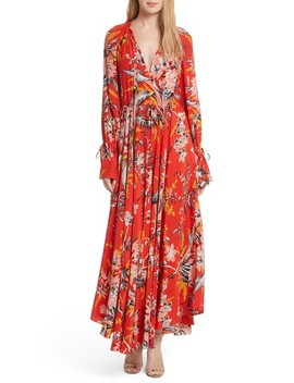 Floral Silk Maxi Dress by Diane Von Furstenberg