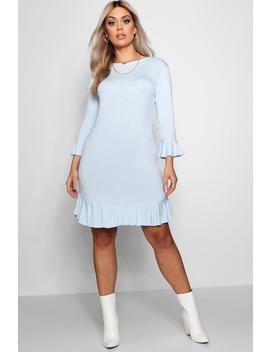 Plus Katy Ruffle Hem Bodycon Dress by Boohoo