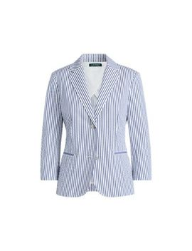 Striped Cotton Blazer by Ralph Lauren