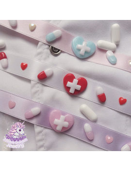 Kawaii Hospital Chokers Menhera Hospital Pills by Etsy