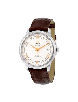 Omega De Ville Prestige Silver Dial Brown Leather Mens Watch 424.13.40.20.02.002 by Omega