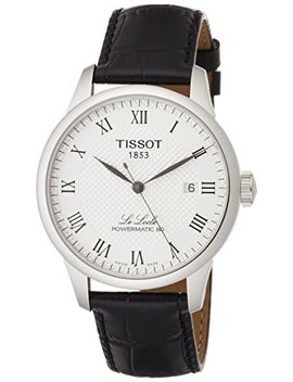 Tissot Powermatic 80 Silver Dial Black Leather Strap Men's Watch T0064071603300 by Tissot