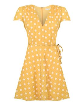 **Spot Tea Dress By Glamorous Petites by Topshop
