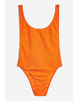 Crinkle Textured Swimsuit by Topshop