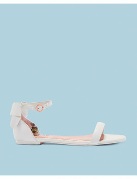 Bow Heel Flat Sandals by Ted Baker