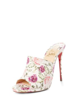 Floral Pigalle Genuine Snakeskin Mule by Christian Louboutin