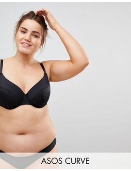Asos Curve Basic Microfibre Mix & Match Moulded Plunge Bra by Asos Curve