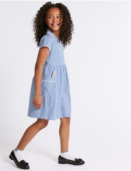 Girls' Classic Summer Striped Dress by Marks & Spencer