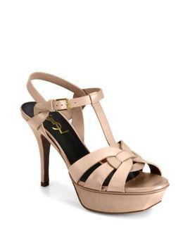 Patent Leather Tribute Sandals by Saint Laurent