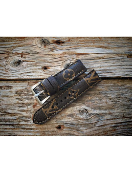 Artisan Watch Strap Handmade Louis Vuitton Strap Apple Watch by Etsy