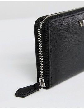 Valentino By Mario Valentino Black Zip Around Purse by Valentino By Mario Valentino