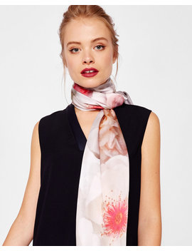 Chelsea Grey Long Silk Scarf by Ted Baker
