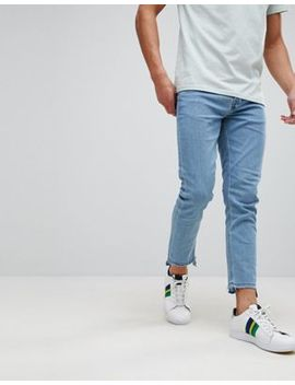 Only & Sons Skinny Fit Jeans With Raw Hem In Stretch by Only & Sons