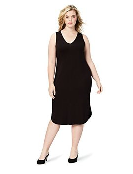 Daily Ritual Women's Plus Size Jersey Sleeveless V Neck Dress by Daily+Ritual