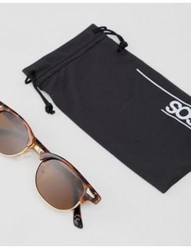 Asos Design Angled Retro Sunglasses In Tort by Asos Design