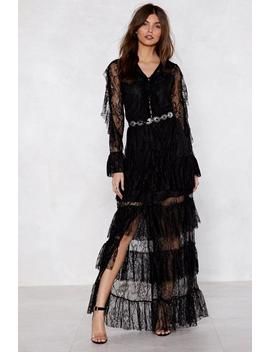 Dark Horse Lace Dress by Nasty Gal