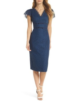 Ginger Rosebud Lace Sheath Dress by Gal Meets Glam Collection
