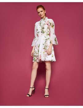 harmony-ruffle-high-neck-dress by ted-baker