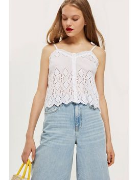 Broderie Camisole Top by Topshop