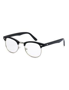 5zero1 Fake Glasses Half Frame Retro Fashion Men Women Nerd Classic Clear Lens Eyeglasses by 5zero1