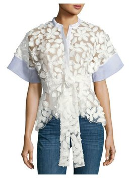 Danelle Floral Embroidered Short Sleeve Top by Alexis