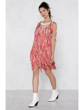 Dance To The Music Fringe Dress by Nasty Gal