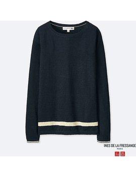 Damen Ines 100% Premium Leinen Pullover by Uniqlo