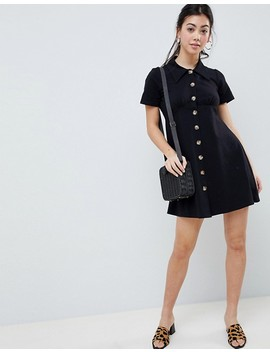 Asos Design Petite Polo Shirt Dress With Tortoiseshell Buttons by Asos Design
