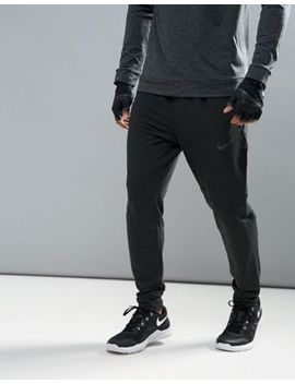 Nike Training Dri Fit Fleece Joggers In Black 742212 010 by Nike
