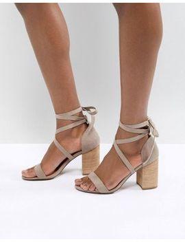 Asos Design Travis Tie Leg Heeled Sandals by Asos Design