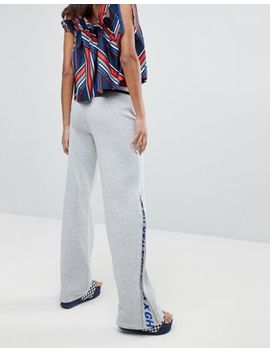 Gigi Hadid Zip Flare Tracksuit Bottoms With Stipe Waistband by Tommy Hilfiger