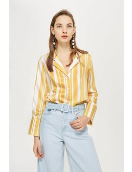Stripe Pyjama Style Shirt by Topshop
