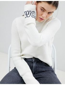 Tommy Jeans Diagonal Stitch Knit Sweater With Logo Sleeve by Tommy Jeans Capsule