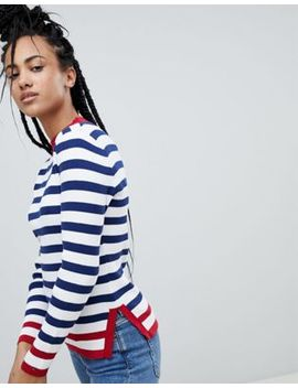 Tommy Hilfiger Denim Stripe High Neck Sweater by Tommy Hilfiger