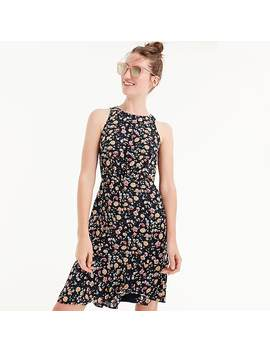 Drapey Ruched Waist Dress In Vintage Floral by J.Crew