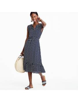 Cap Sleeve Midi Dress In Dragonfly Print by J.Crew