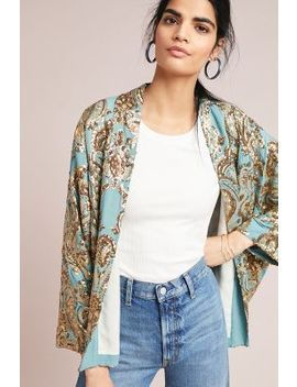 Glittering Gold Sequined Kimono by Anthropologie