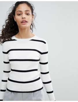 Bershka Ribbed Stripe Sweater by Bershka