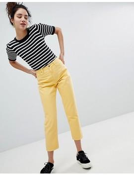 Monki Taiki Yellow High Waist Mom Jeans by Monki