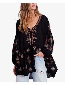 Arianna Embroidered Blouson Sleeve Tunic by Free People