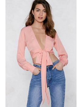Short Stuff Wrap Top by Nasty Gal